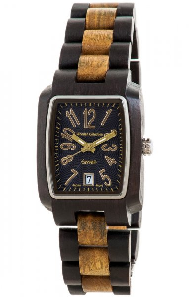 TENSE Wooden Watch // Mens Timber Black Oak Greenwood