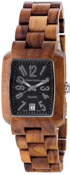 TENSE Wooden Watch // Mens Timber Walnut Wood