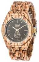 TENSE Wooden Watch // Mens Washington North Zebrawood