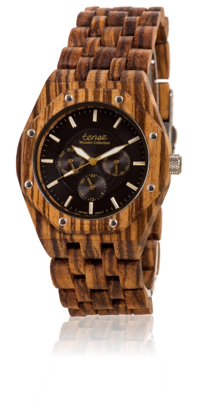 Tense-Holzuhren-Herrenkollektion-Washington-Armbanduhren-aus-Holz