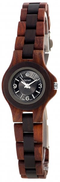 TENSE Holzuhr // Womens Northwest Karriholz Black Oak
