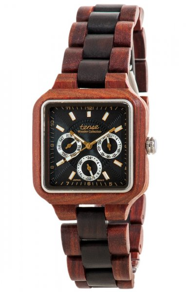 TENSE Wooden Watch // Mens Summit Karriwood Black Oak