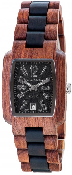 TENSE Holzuhr // Mens Timber Karriholz Black Oak