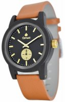 Mens Leather Hampton Black Oak