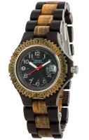 TENSE Holzuhr // Mens Compass Black Oak Greenwood