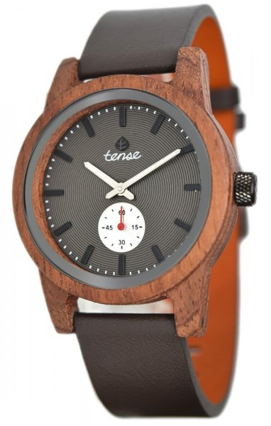 TENSE Wooden Watch // Mens Leather Hampton Karriwood