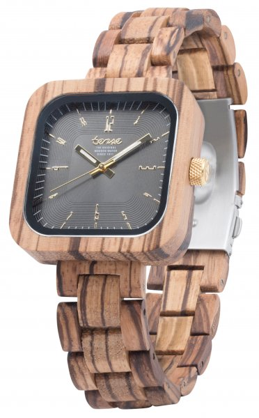 TENSE Wooden Watch // Mens Labrador Zebrawood