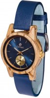 TENSE Wooden Watch // Womens Leather Hampton Zebrawood