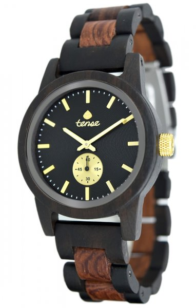 TENSE Wooden Watch // Mens Hampton Black Oak Karriwood