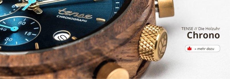 TENSE Holzuhren Chronograph