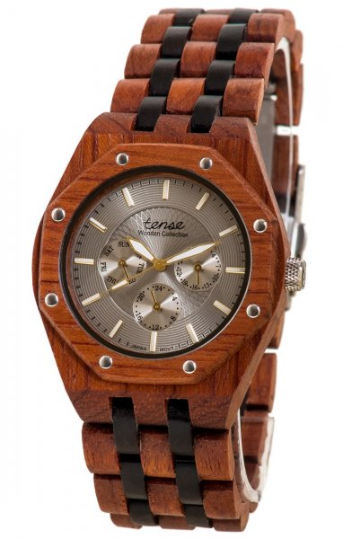 TENSE Wooden Watch // Mens Washington Karriwood Black Oak