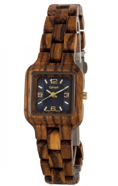 TENSE Wooden Watch // Womens Summit Zebrawood