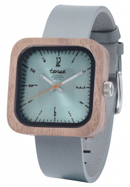 TENSE Wooden Watch // Mens Leather Labrador Walnut Wood