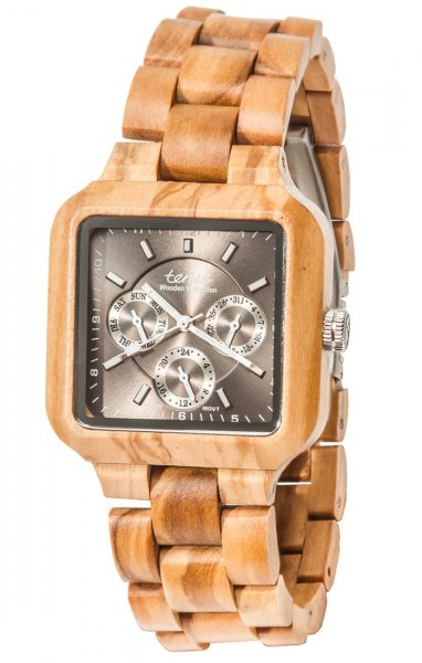 TENSE Wooden Watch // Mens Summit Olive Wood