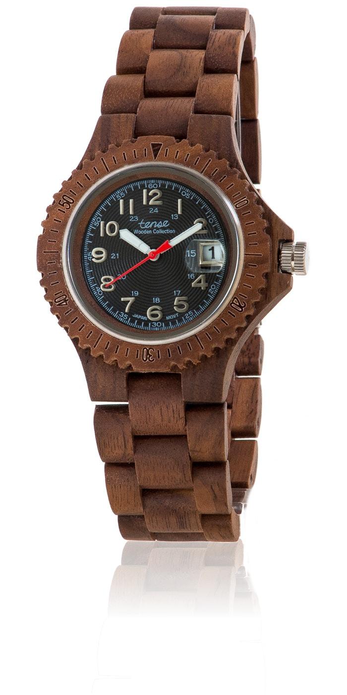 Tense-Holzuhren-Herrenkollektion-Compass-Armbanduhren-aus-Holz