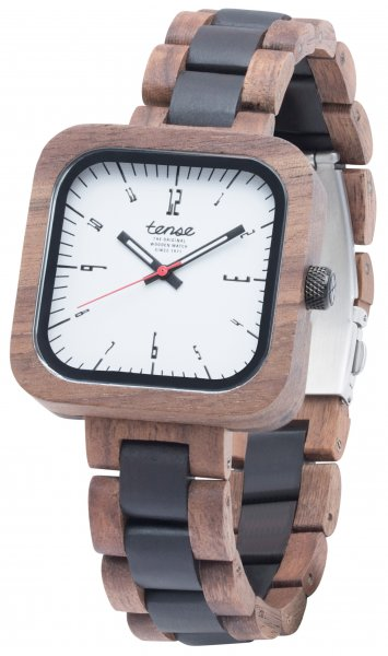 TENSE Wooden Watch // Mens Labrador Walnut Wood Black Oak