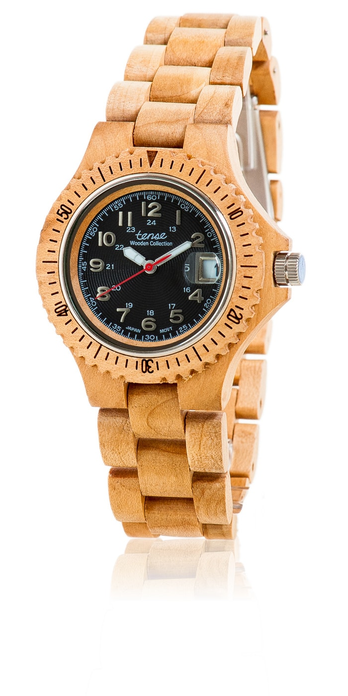 Tense-Holzuhren-Damenkollektion-Compass-Armbanduhren-aus-Holz