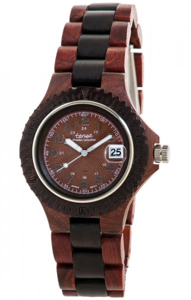 TENSE Wooden Watch // Mens Compass Karriwood Black Oak