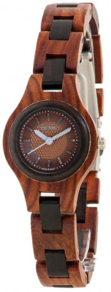 TENSE Wooden Watch // Womens Pacific Karriwood Black Oak