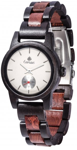 TENSE Wooden Watch // Womens Hampton Black Oak Karriwood