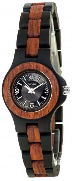 TENSE Wooden Watch // Womens Northwest Black Oak Karriwood