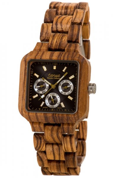 TENSE Wooden Watch // Mens Summit Zebrawood