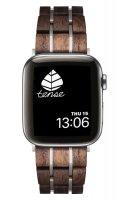 TENSE // Holz Armband für Apple Watch Walnuss/silber