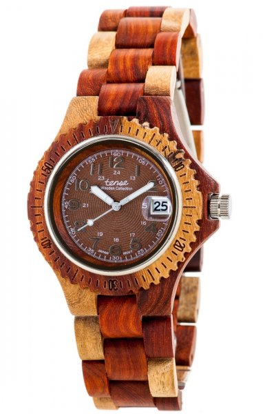 TENSE Wooden Watch // Mens Compass multitone Karriwood