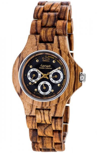 TENSE Wooden Watch // Mens Northwest Zebrawood
