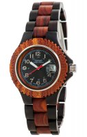 TENSE Wooden Watch // Mens Compass Black Oak Karriwood